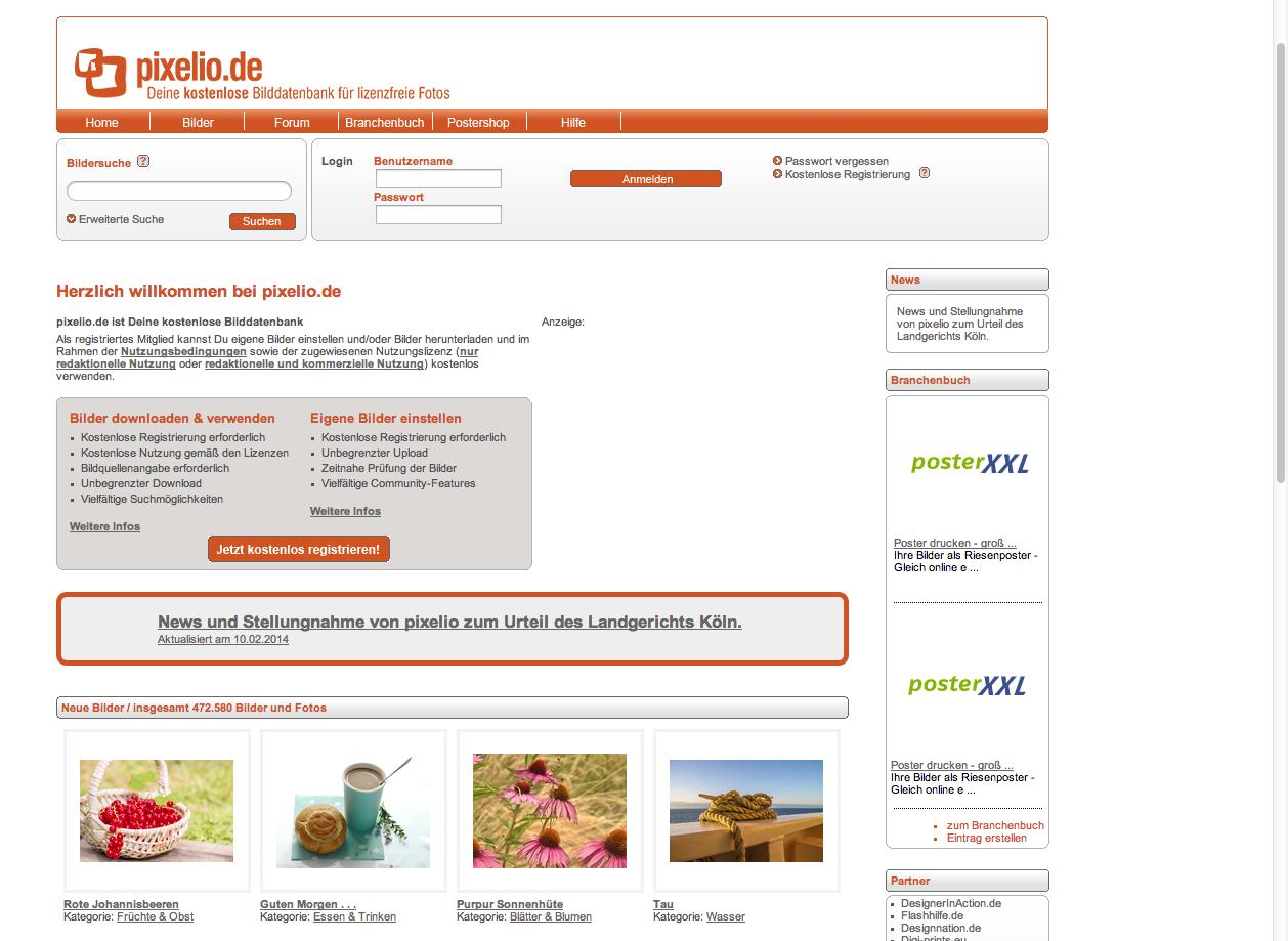 kostenlose Bilder-Websites